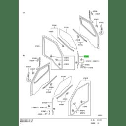 WEATHERSTRIP,FR DOOR,UPR LH 1