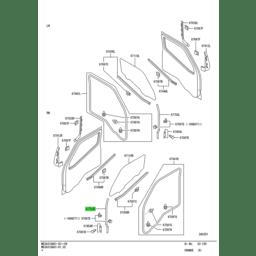WEATHERSTRIP,FR DOOR,UPR RH 1